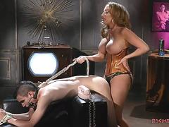 Mistress Pegging a Guy
