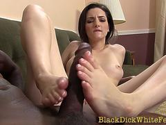 Ho gives bbc footjob