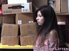 Thieving teen latina