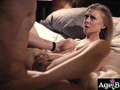 Old woman Nina Hartley fucked by younger guy