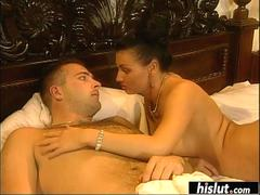 Laure Angel surprises her man with a blowjob