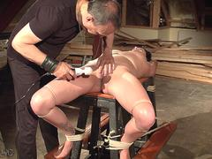 Teen spanking and punishment while hogtied