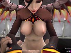 Naughty 3D hero babes sex collection