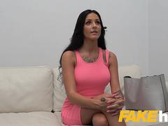 Fake Agent Horny Big Tits Barbie Esm gets a facial
