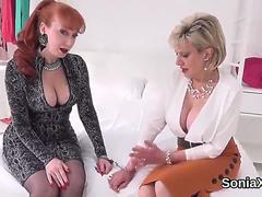Unfaithful english mature lady sonia exposes her monster boobs