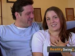 Oral sex games between horny and kinky swinger couples.