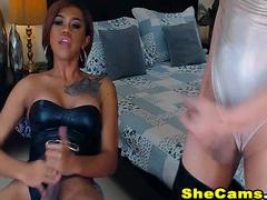 Shemales With Big Cocks Masturbating On Cam