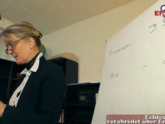 german old secretary mature mom seduced younger guy