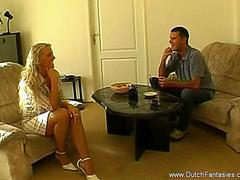 Fuck The Dutch MILF On Her Couch
