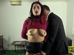 Bound fetish sub fucked