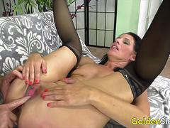 Golden Slut - Dickdown for a Mature Floozy Compilation