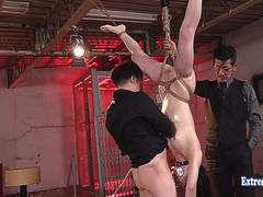Idol Shiomi Akari Likes Being Punched In The Stomach Extreme BDSM She Gets The Business In This One