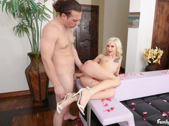 Stepbrother Fucks The Tight Pussy Of All Natural Blonde Stepsister Kiara Cole