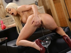 Lena Love Gapes Her Pussy To Piss