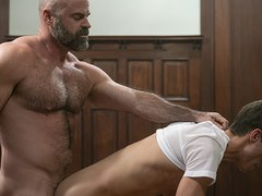 MissionaryBoyz - Furry Priest Shoots A Gooey Load In A Missionary Boys Butt