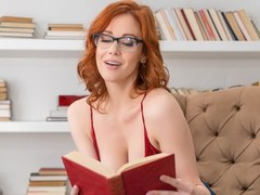 VR BANGERS Redhead MILF teacher is getting horny