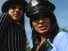 Its bad girl vs good cop time on my cock